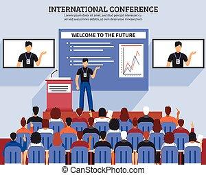 Presentation Conference Hall Composition