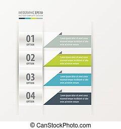 Presentation design banner 4 color