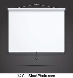 Presentation, Empty Projection screen