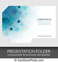 Presentation folder design template.