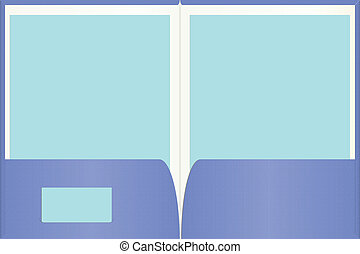 Open presentation folder with easily customizable blank paper and business card copy space.