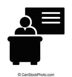 presentation glyph icon