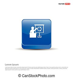 Presentation Icon - 3d Blue Button