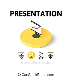 Presentation icon in different style