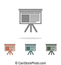 presentation icon isolated on white background