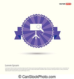 Presentation Icon - Purple Ribbon banner