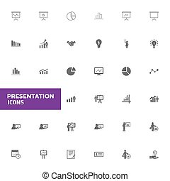 presentation icons set. Vector illustration