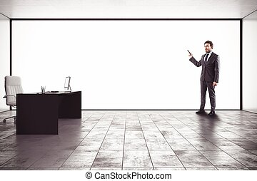 Presentation in an office - Businessman making a...