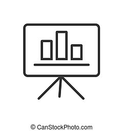 Presentation line icon on a white background