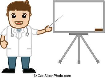 presentation, möte, läkare