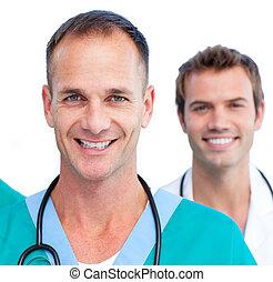 Presentation of a blissful medical team