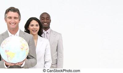 Presentation of a business team