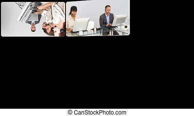 Presentation of customer agent team