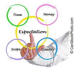 Presentation of expectation diagram