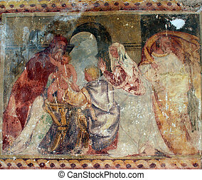 Presentation of Jesus at the Temple, fresco paintings in the...
