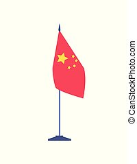 Presentation of state, National China Flag Vector