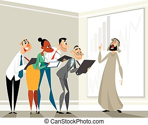 Presentation of the arab businessman