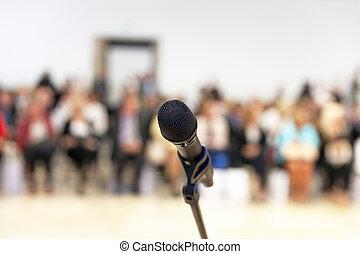 presentation., público, speaking.