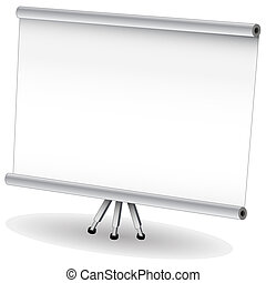 Presentation Projector Screen - An image of a pull down...