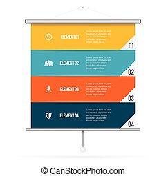 Presentation Screen Infographic
