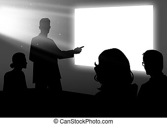 Presentation - Stock image of people having a meeting using...