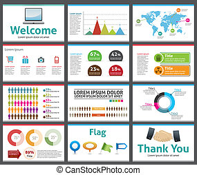 presentation template - business company slide show design -...