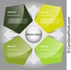Presentation template - Elegant presentation/option template...