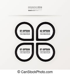 presentation template vector  black and white color
