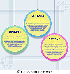 Presentation template with options
