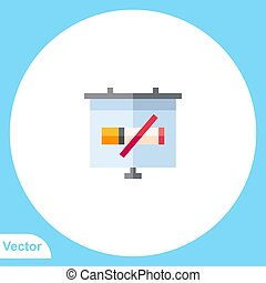 Presentation vector icon sign symbol