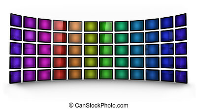 Presentation wall - coloured