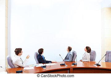 presentazione, affari
