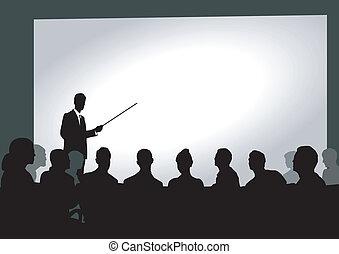 presentazione, auditorio