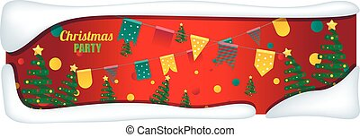 presente, árvores., caixas, fundo, feriado, natal