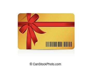 presente, barcode, desenho, cartão, ilustração