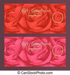 presente, comprovante, certificado, (rose)
