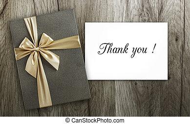presente, con, gracias card