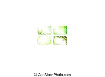 presente, crédito, modelo, floral, ou, cartão