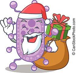 presente, desenho, mycobacterium, santa, caricatura, natal