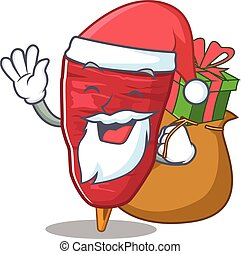 presente, doner, caricatura, kebab, santa, desenho, natal