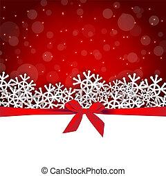 presente, feriado, snowflakes, fundo