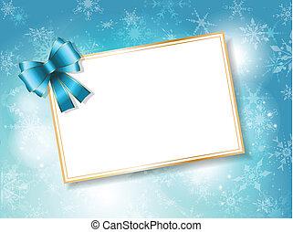 presente, fundo, cartão, natal
