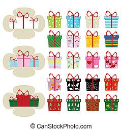presente natal, ícones