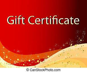 presente, natal, certificado