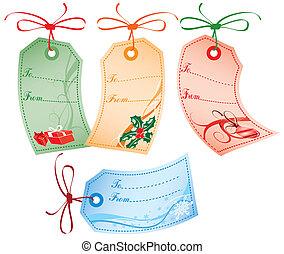 presente natal, etiquetas