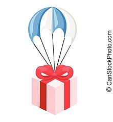 presente, paraclown, jogo, apartamento, desenho, estilo, vetorial, illustration.