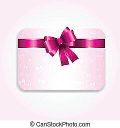 presente, valentines, cartão, dia