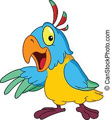 presenterande, papegoja