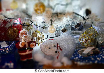 presentes, árvore, natal