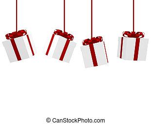 presentes, 3d, navidad, render, ahorcadura